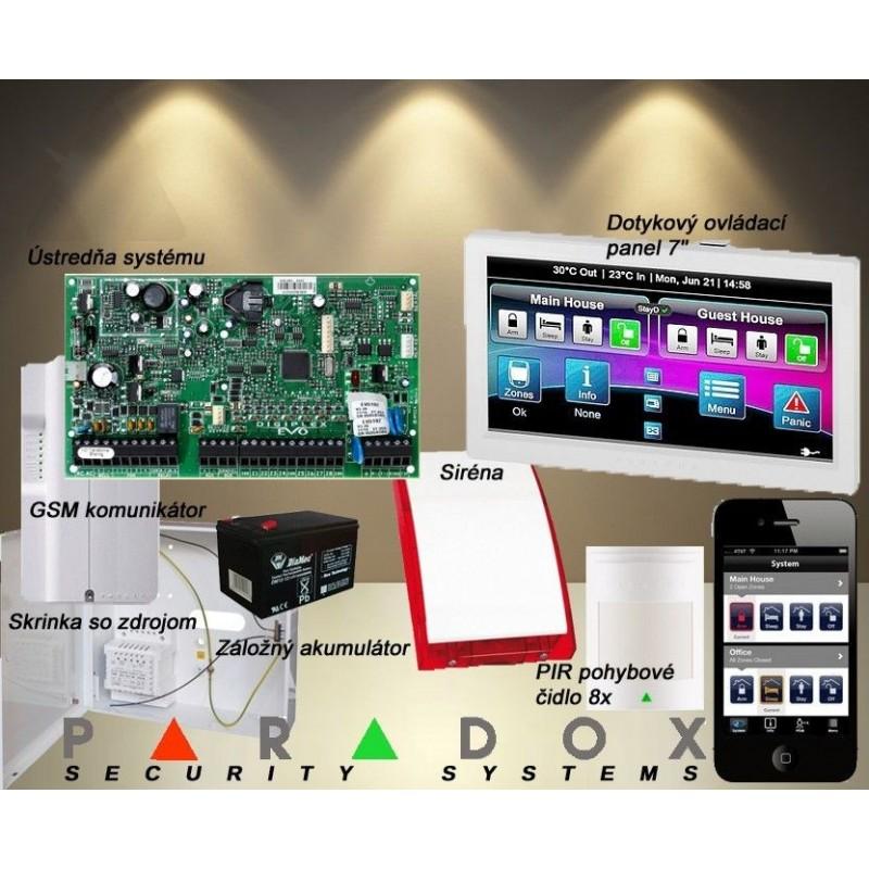 Paradox set DIGIPLEX EVO/9 TM70LCD+GSM PCS250